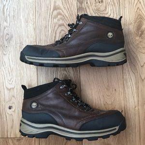Timberland ankle lace up leather boots